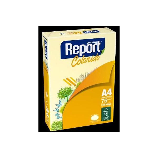 PAPEL REPORT A4 AMARELO  500 fls